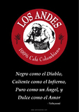 "Poster for commercial partners ""LOS ANDES  100% Café Colombiano"""